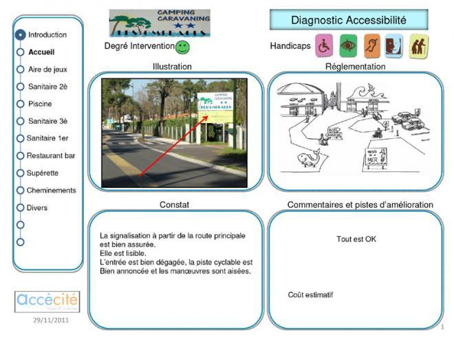 Diagnostic accessibilité batiment-diagnostic camping, diagnostic accessibilité commerce